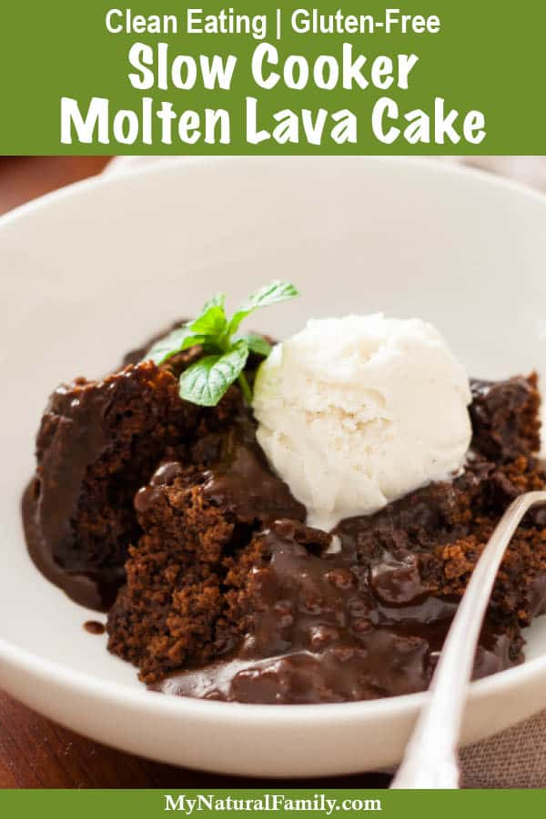 Slow Cooker Clean Eating Molten Lava Oat Flour Cake Recipe