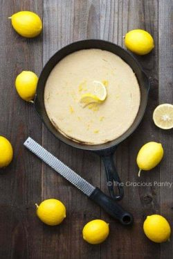 Clean Eating Skillet Baked Paleo Lemon Pancakes