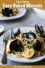 Simple and Easy Baked Mussels Recipe {Clean Eating}