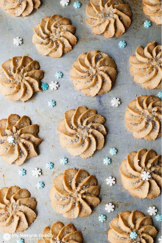 Frozen-inspired Snowflake Spritz Cookies