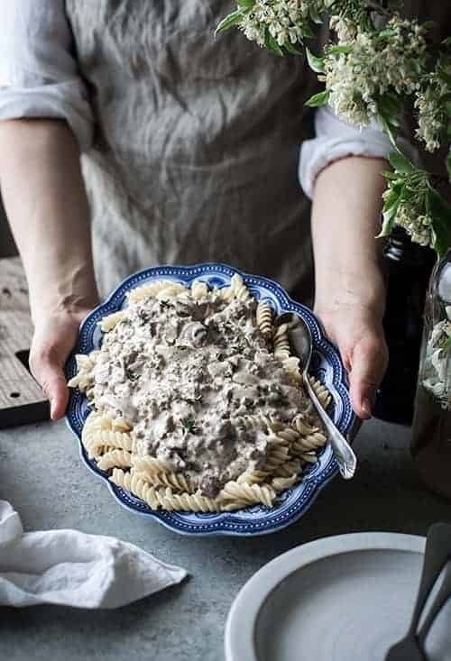 Ground beef stroganoff recipe without cream of mushroom soup