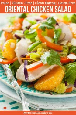 Paleo Chinese Chicken Salad Recipe {Gluten-Free, Clean Eating, Dairy-Free}