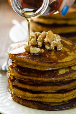 Pumpkin Quinoa Flour Pancakes Recipe