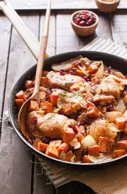 Sweet Potato Honey Chicken Skillet