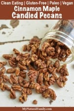 5 Minute Stovetop Cinnamon Maple Candied Pecans Recipe {Clean Eating, Paleo, Gluten-Free, Dairy-Free, Vegan}