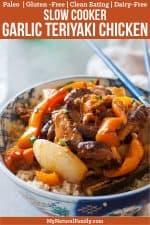 Garlic Teriyaki Slow Cooker Chicken Thighs Paleo Recipe