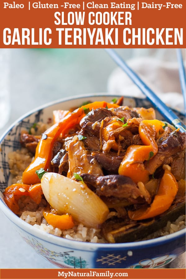 Garlic Teriyaki Slow Cooker Chicken Thighs Paleo Recipe