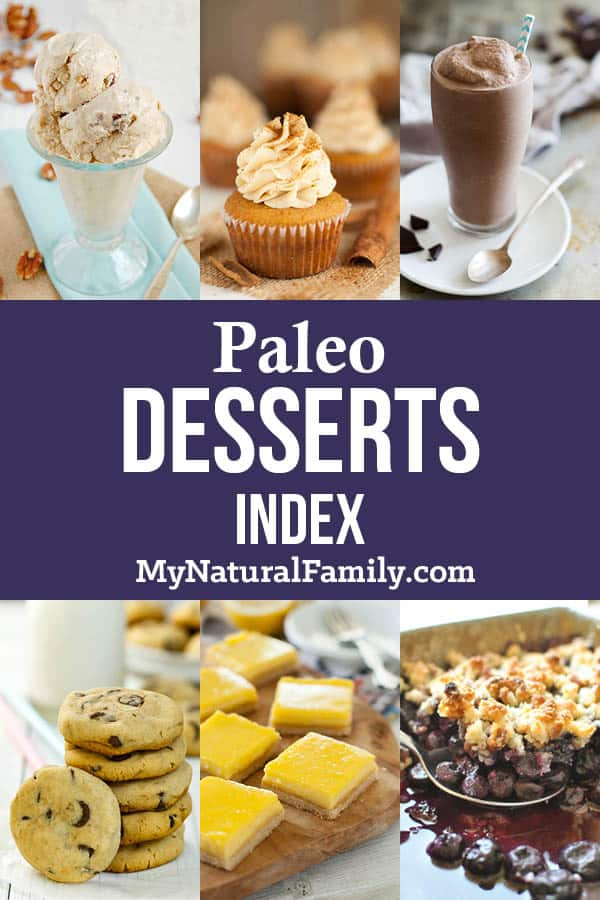Paleo Desserts Index
