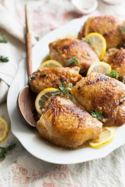 baked lemon browned butter chicken recipe
