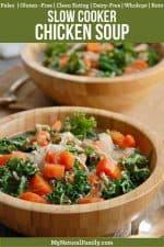 Nourishing Paleo Chicken Soup Crock Pot Kale Recipe {Clean Eating, Gluten-Free, Dairy-Free, Whole30, Keto}