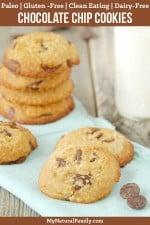 Paleo Chocolate Chip Cookies Recipe {Clean Eating, Gluten-Free, Dairy-Free}