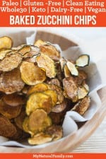 Curried, Baked Paleo Zucchini Chips Recipe {Gluten Free, Clean Eating, Dairy Free, Vegan, Whole30, Keto}