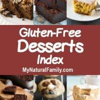 Gluten Free Desserts Index