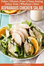 Healthy Artichoke & Asparagus Paleo Chicken Salad Recipe {Clean Eating, Gluten-Free, Dairy-Free, Whole30, Keto}