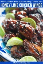 Honey Lime Sesame Paleo Chicken Wings Recipe {Gluten Free, Clean Eating, Dairy Free}