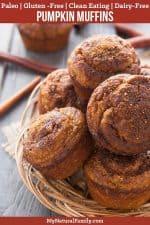 Paleo Pumpkin Muffins with Almond Flour Recipe {Paleo, Gluten-Free, Clean Eating, Dairy-Free}