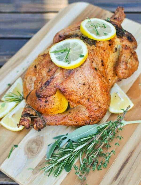 Whole roasted chicken is a simple Paleo chicken recipe with a few simple ingredients that bakes in the oven with little attention