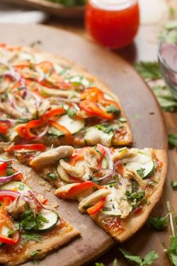 Paleo Thai Chicken Pizza