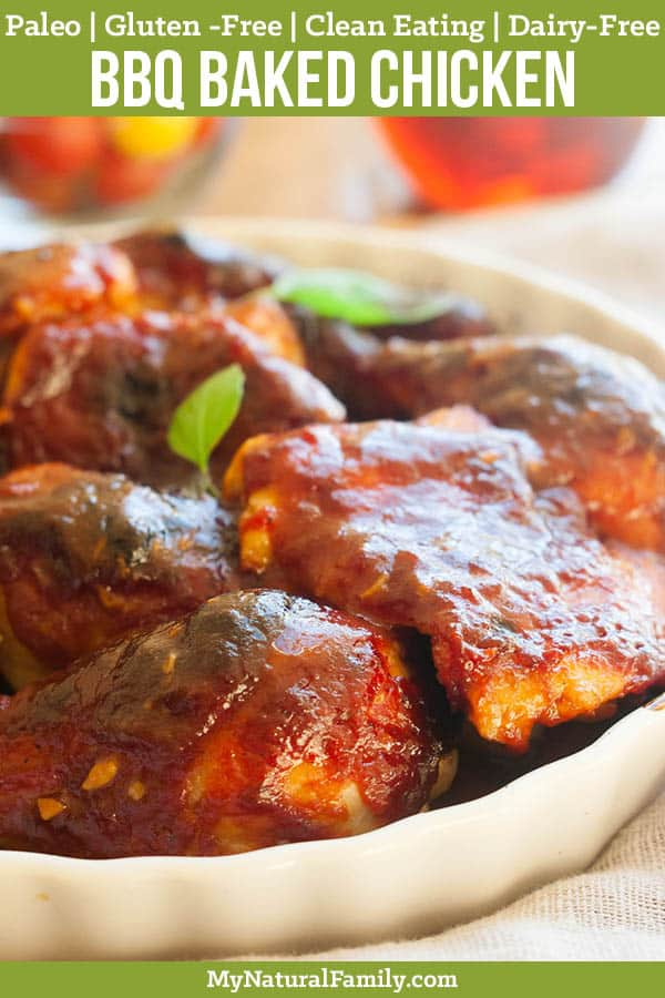 Sweet & Sticky Paleo Baked Chicken Thighs Recipe {Clean Eating, Gluten-Free, Dairy-Free}