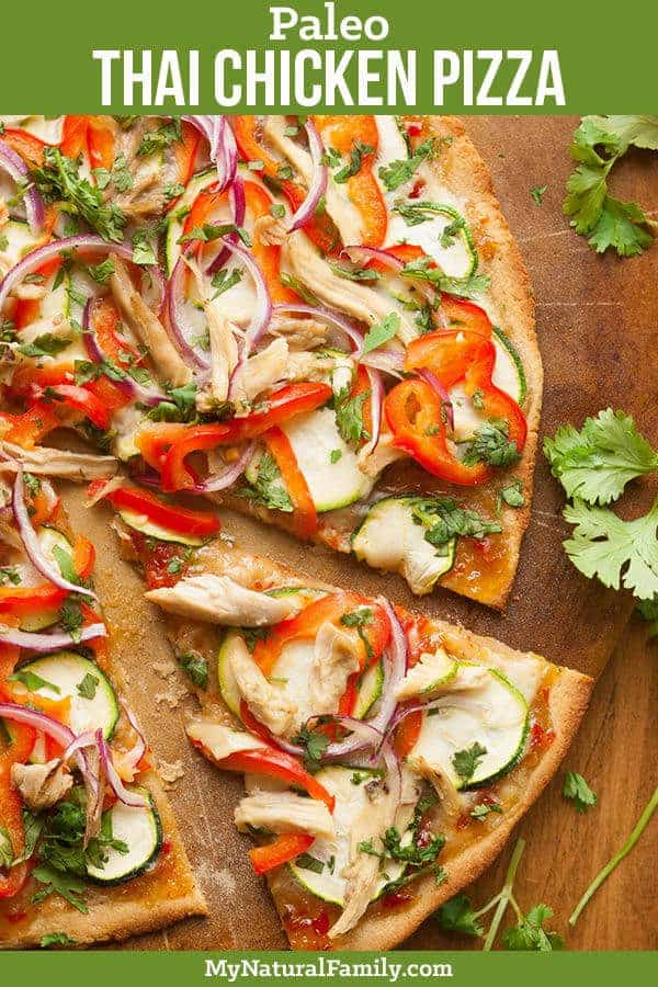 Thai Chicken Paleo Almond Flour Pizza Crust Recipe