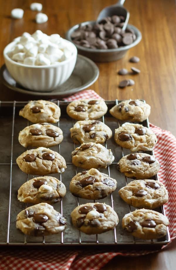 Chocolate Chip Marshmallow White Bean Cookies Recipe {Gluten-Free, Vegan, Clean Eating, Dairy-Free}