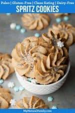 Frozen-Inspired Paleo Spritz Cookies Recipe