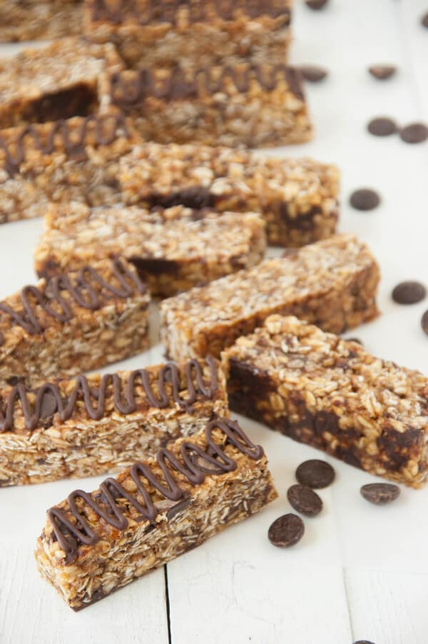 Gluten Free Almond Chocolate Chip Granola bars