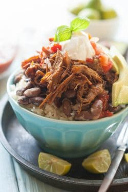 Slow Cooker Burrito Bowl Recipe