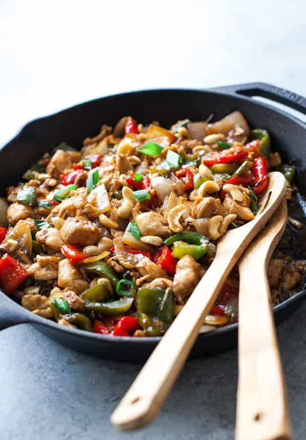 Clean Eating Cashew Chicken Recipe {Gluten-Free}