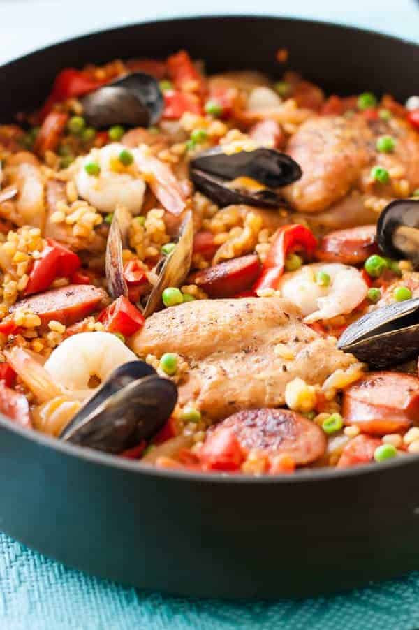 Gluten-free paella recipe