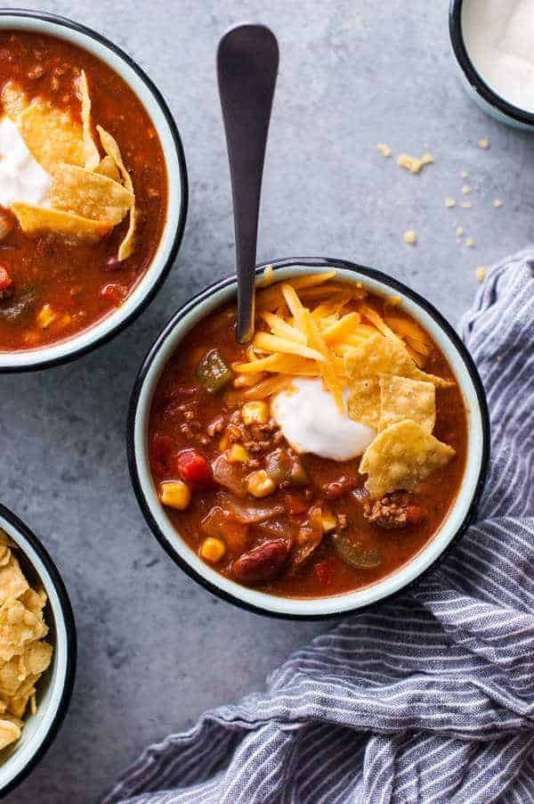 Healthy taco soup recipe crock pot