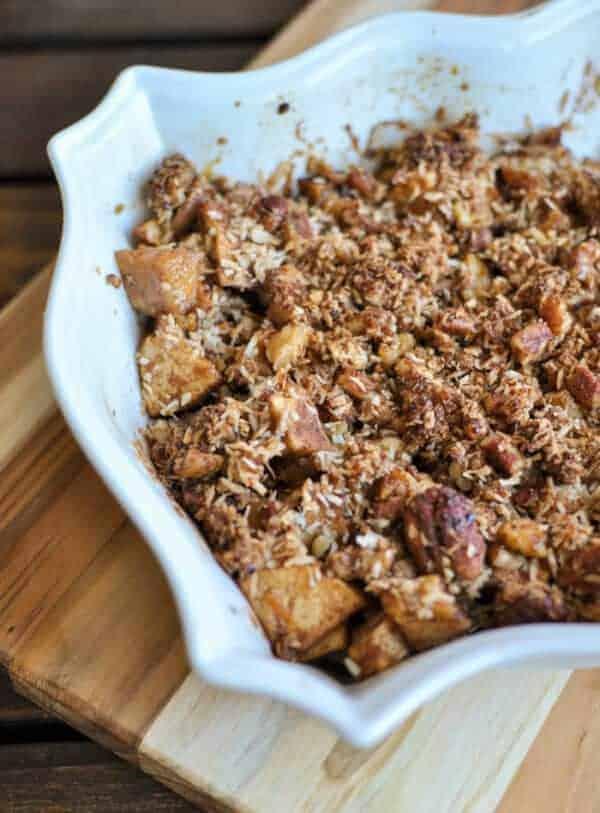 Gluten-free apple crisp without oats