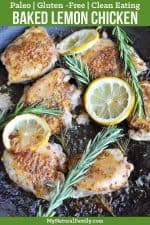 Paleo Baked Lemon Chicken Thighs Recipe {Clean Eating, Gluten-Free}