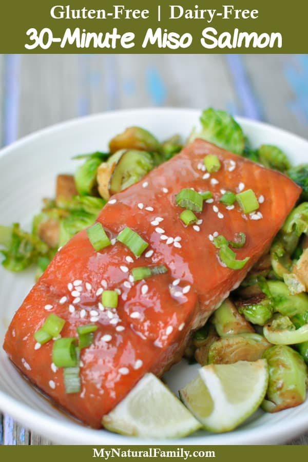 30-Minute, Easy Miso Salmon Recipe with 5 Ingredients {Gluten-Free, Dairy-Free}