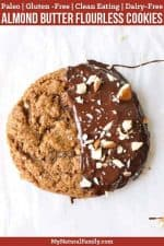 Paleo Almond Butter Cookies {Flourless, Gluten-Free, Clean Eating, Dairy-Free}
