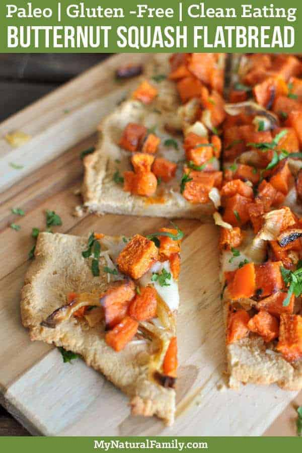 Paleo Flatbread Recipe with Roasted Butternut Squash {Gluten-Free, Clean Eating}