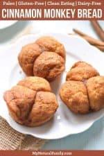 Paleo Monkey Bread Recipe with Cinnamon Sugar {Gluten-Free, Clean Eating, Dairy-Free}