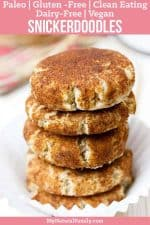 Paleo Snickerdoodles Recipe with Coconut Flour and Flax Seed Eggs {Vegan, Gluten-Free, Clean Eating, Dairy-Free}