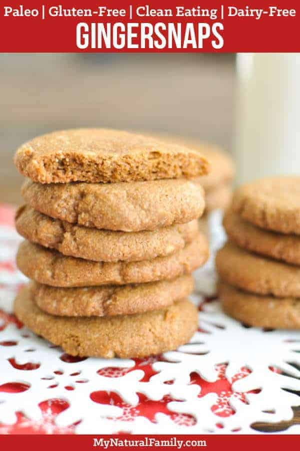 Soft Paleo Gingersnaps Recipe {Gluten-Free, Clean Eating, Dairy-Free, Vegan}