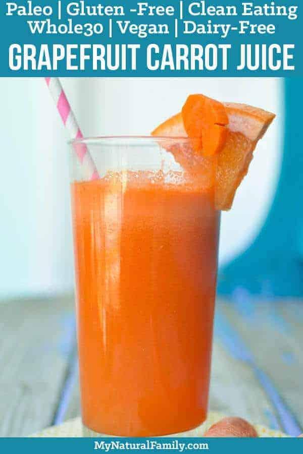 Grapefruit Carrot Juice Recipe Plus Juicing 101 {Paleo, Whole30, Clean Eating, Gluten-Free, Dairy-Free, Vegan}