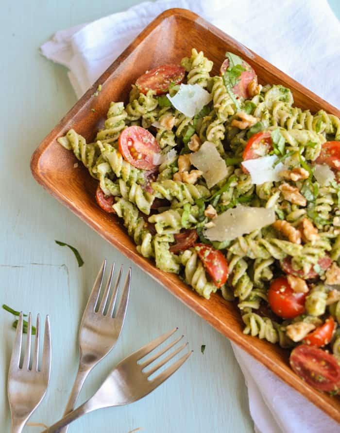 Quick Gluten-Free Pesto Pasta Recipe