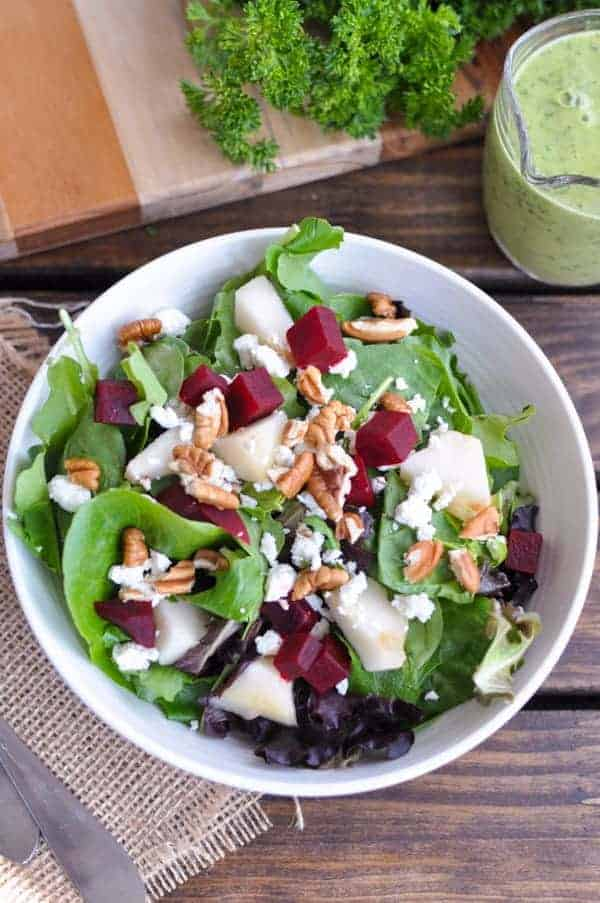 Roasted Beet and Pear Salad Recipe