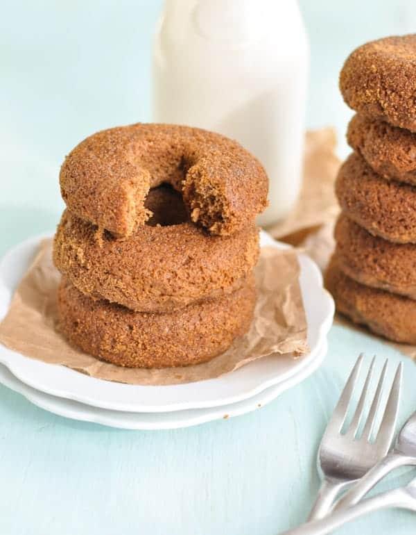 Clean Eating Baked Pumpkin Spelt Donuts 2