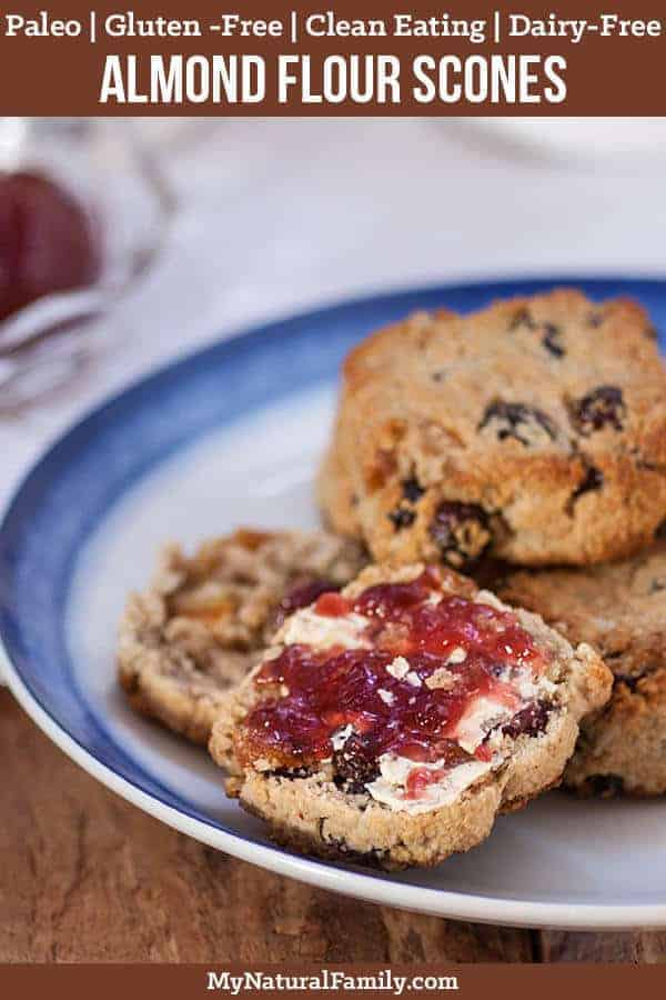 Paleo Scones with Almond Flour, Fruit and Sunflower Seeds {Gluten-Free, Clean Eating, Dairy-Free}