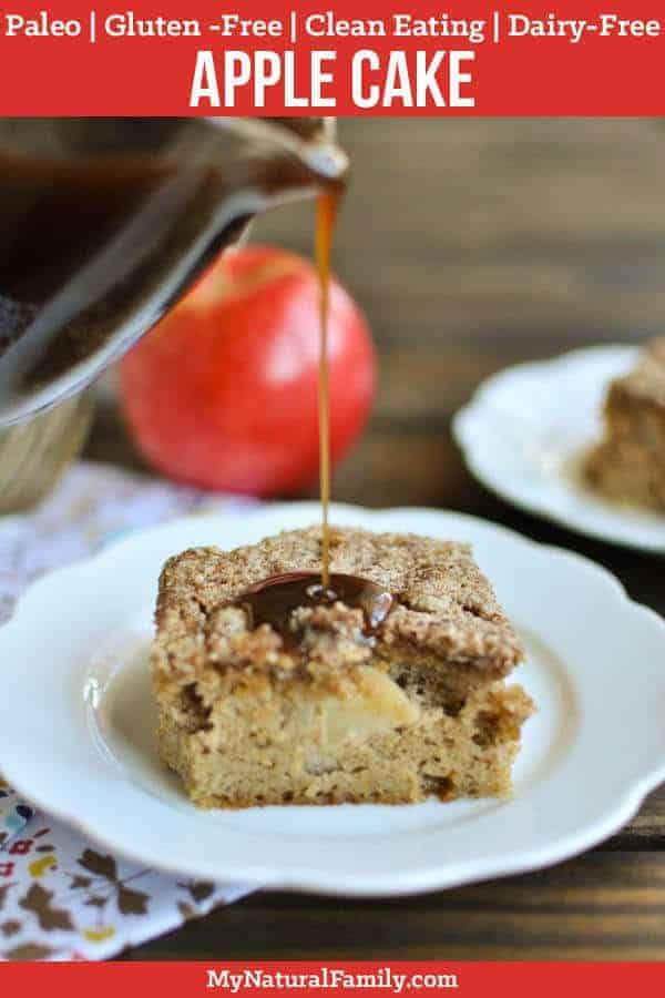 Paleo Apple Cake with Caramel Sauce {Gluten-Free, Clean Eating, Dairy-Free}