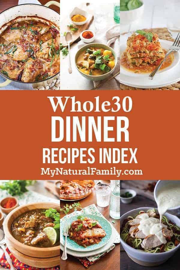 Whole30 Dinner Recipes Index