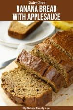 Healthy Banana Bread with Applesauce