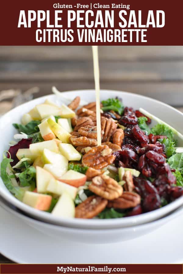 Superfoods Cranberry Apple Pecan Salad Recipe with Citrus Vinaigrette