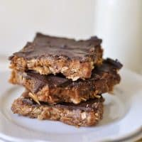Healthy No-Bake Peanut Butter Oatmeal Bars
