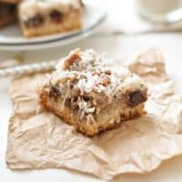 Paleo Chocolate Coconut Bars Recipe